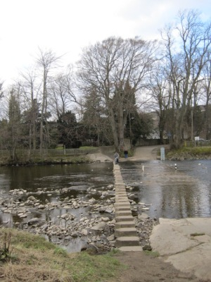 Stepping stones at Stanhope