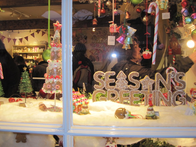 Rustic Rabbit's Christmas window