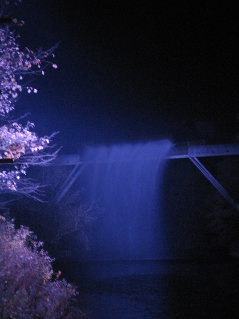 "Or stunningly,as part of a ""waterfall"" light installation"