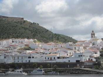 The white village of Sanlucar de Guadiana, on the River Guadiana