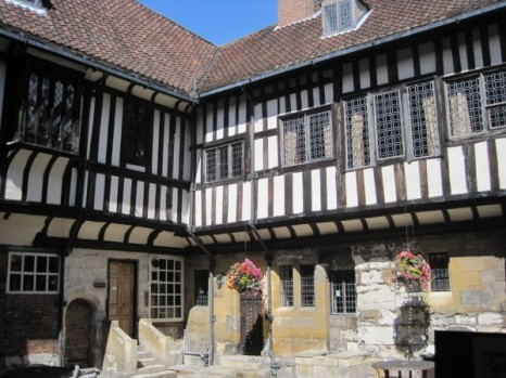Tudor style timbered building in York