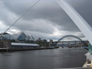 Similar but different, Newcastle's famous Tyne Bridge