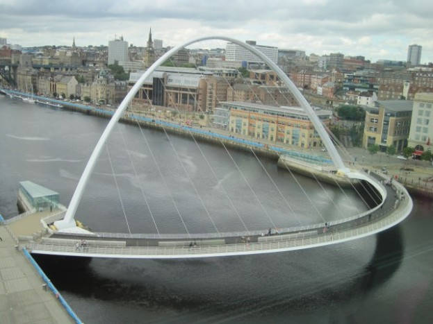 And it's beautiful neighbour, Gateshead's Millenium Bridge