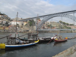 Barcos rabelos below Dom Luis I Bridge, Porto