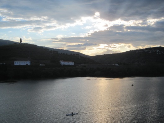 Regua in the Douro as the sun sets