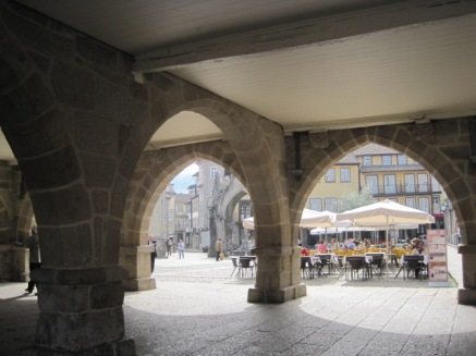 The old Council Chambers form a perfect frame in Guimaraes
