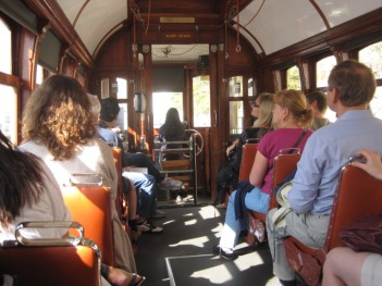 Porto's beautifully fitted and upholstered trams