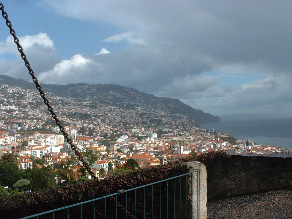 Funchal looking down from the castle (it's a long climb)