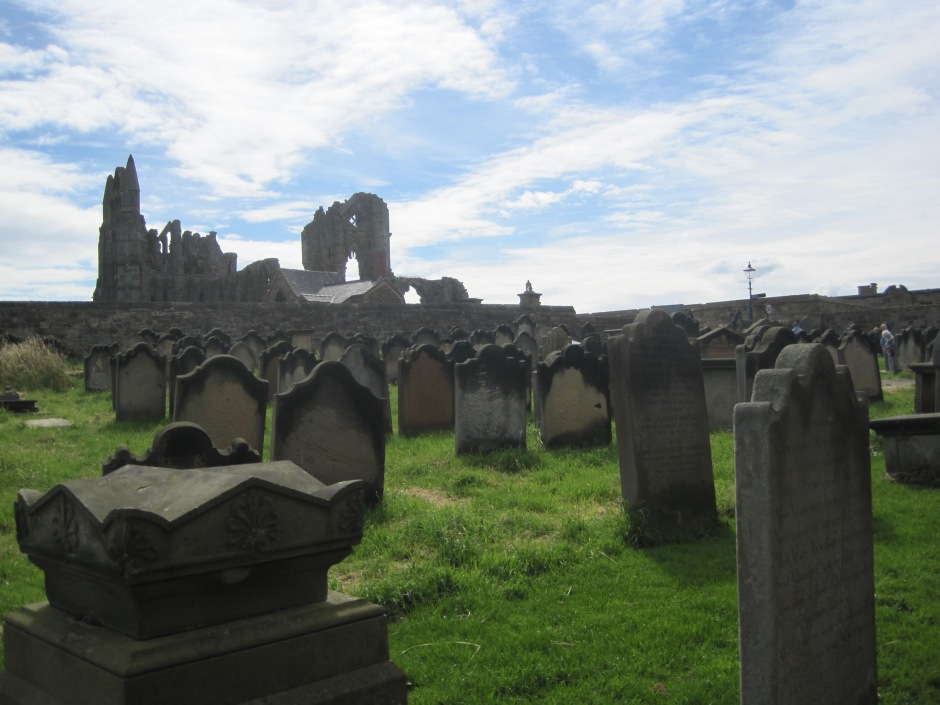 The graveyard and Whitby Abbey