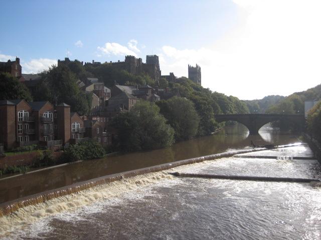 A walk round Durham, the river brim full