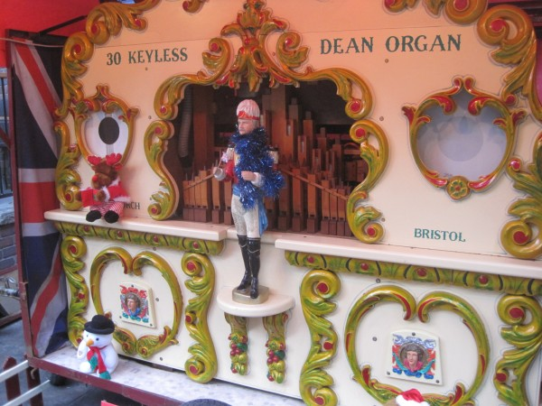 Even the barrel organ was feeling festive