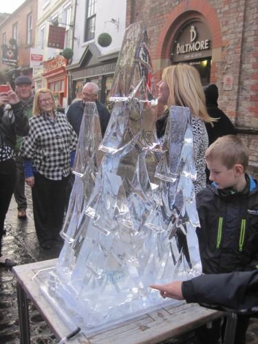Ice Christmas trees?