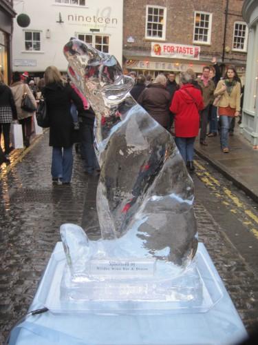 An ice polar bear