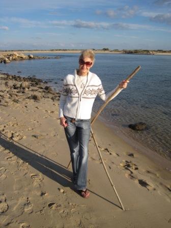 Me beachcombing (courtesy of Michael)