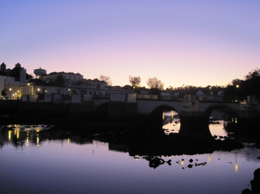 Sunset on my favourite bridge in Tavira