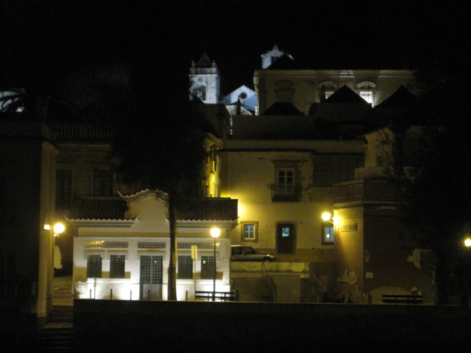 But Tavira's riverbank by night is lovely too
