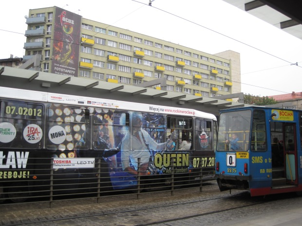 Wroclaw's colourful tram junction