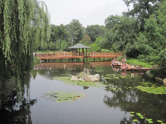 Japanese water gardens always look so serene