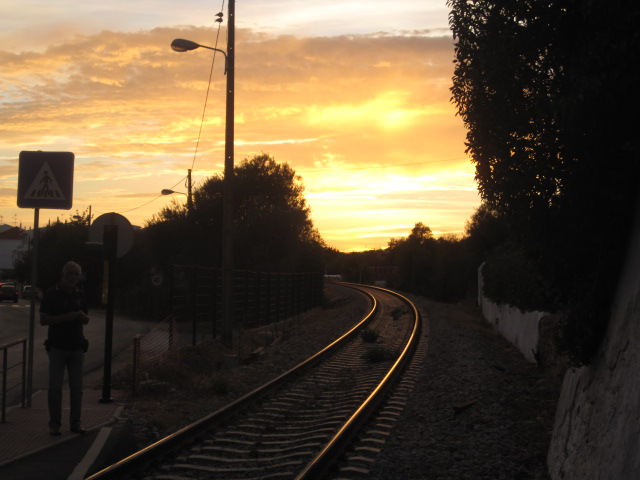 And a sunset or two over the tracks
