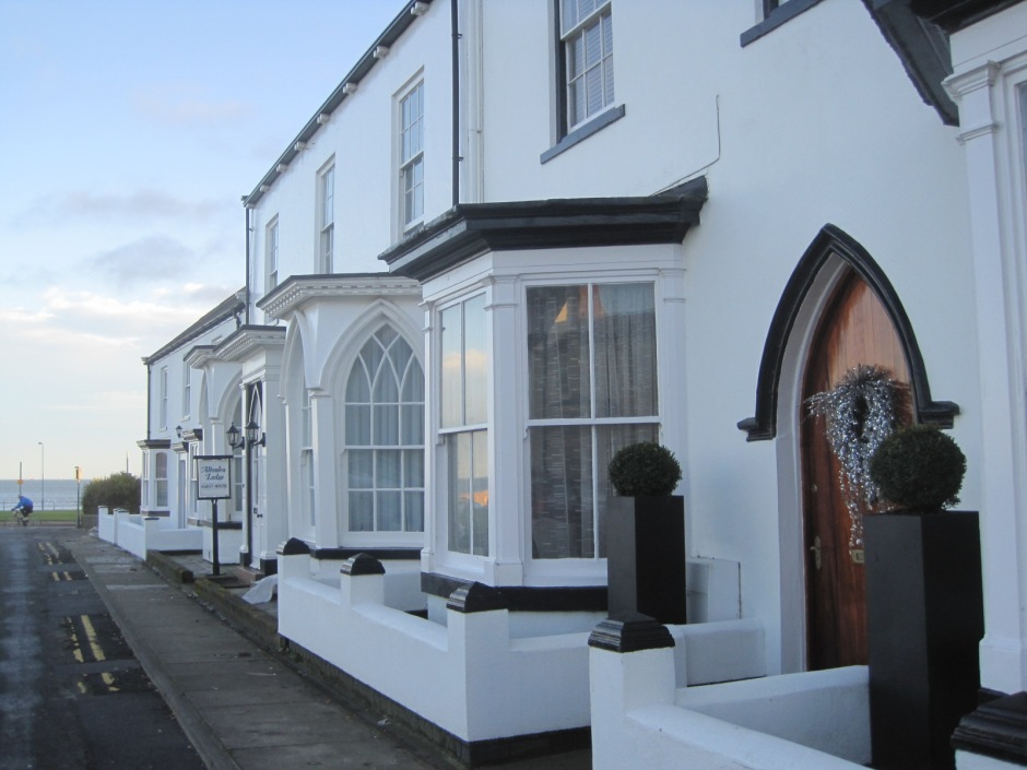 The houses on Seaton Green are still traditionally decorated