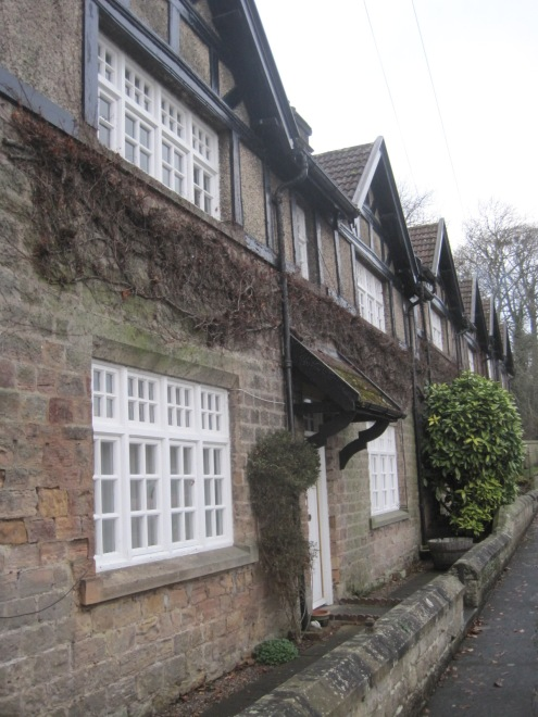 And a row of estate cottages