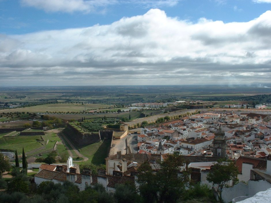 View from the castle at Evora