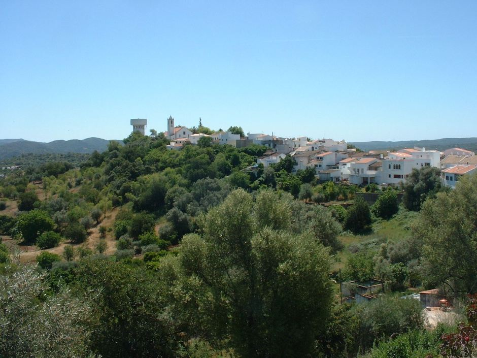 Across the valley to the water tower in Salir