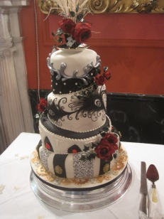 A close up of the cake