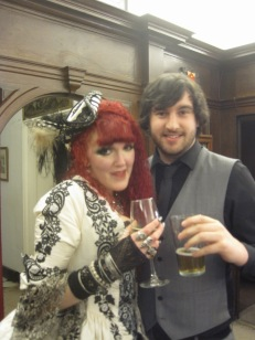 Lisa and brother, James- here's to them!