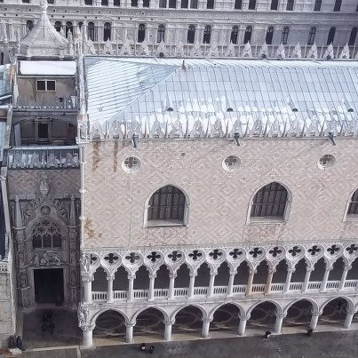 The Palazzo Ducale, covered in snow