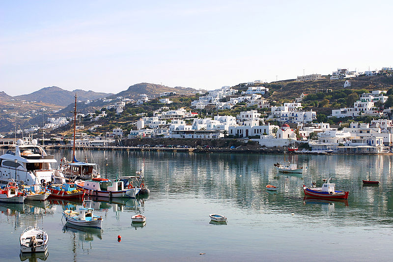 Chora- Mykonos Town- courtesy of Wikipedia