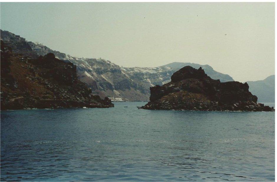 Through the caldera