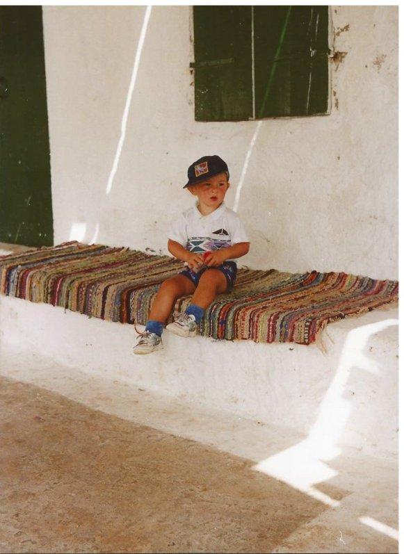 A small boy in Greece