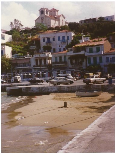 The harbour front at Batsi