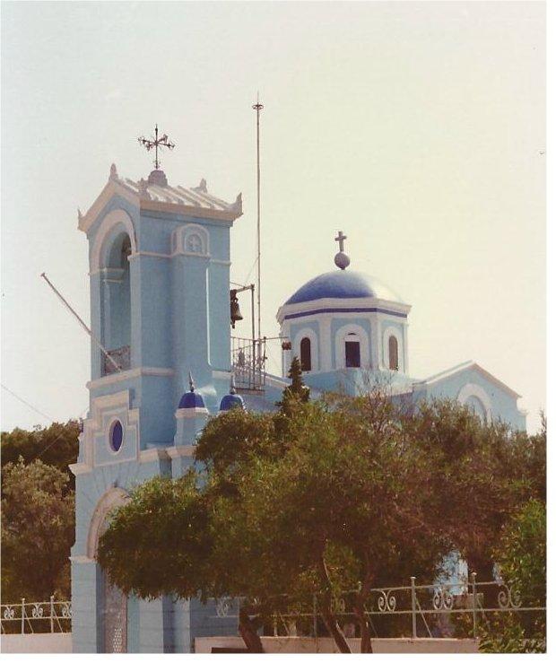 The prettiest blue church I ever saw