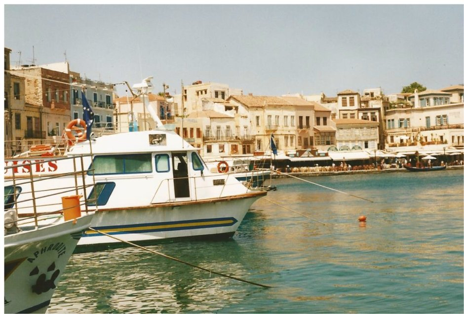 The lovely harbour at Chania