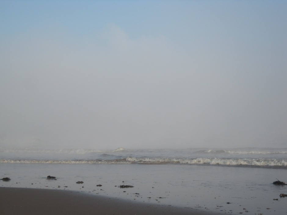 Or with a hint of colour as the fog rolls in