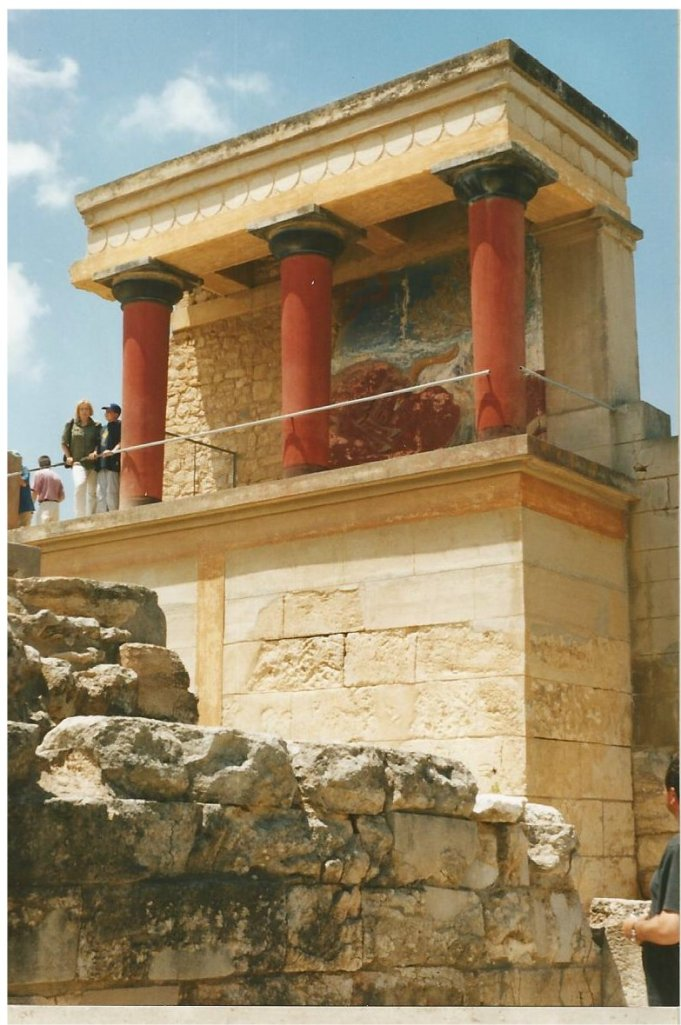 Reconstructed palace remains at Knossos