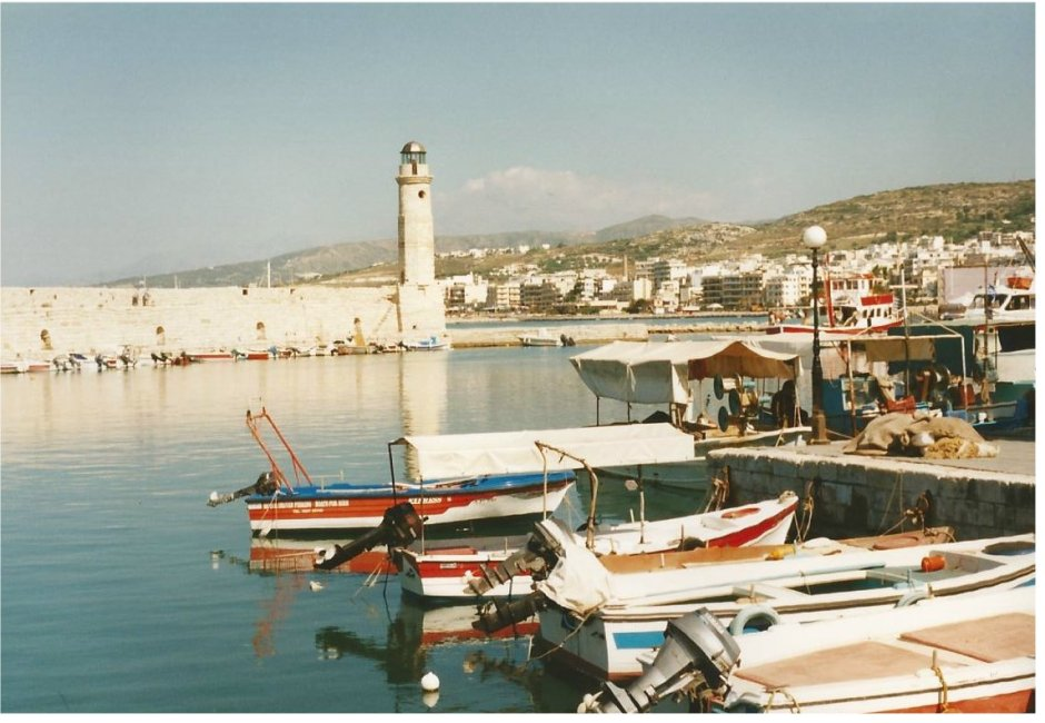 Rethymnon harbour and lighthouse