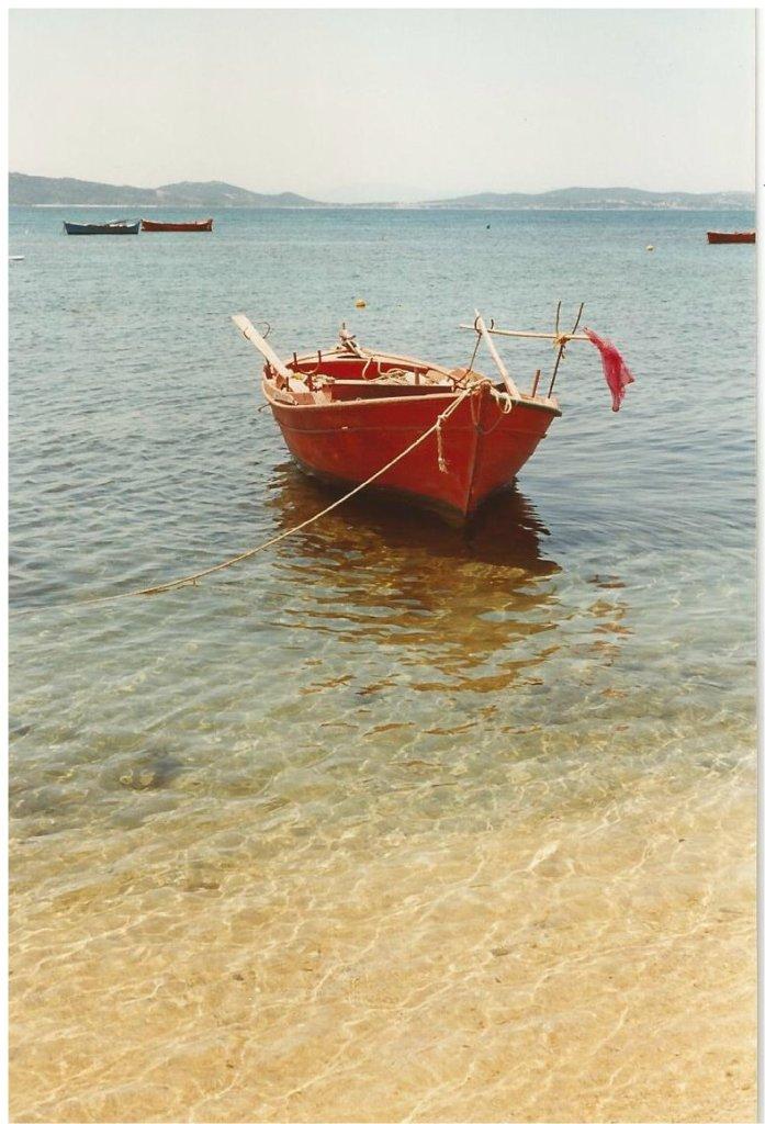 Flat calm in an idyllic bay