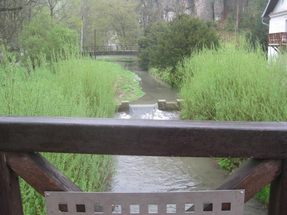 The river passing through Ojców