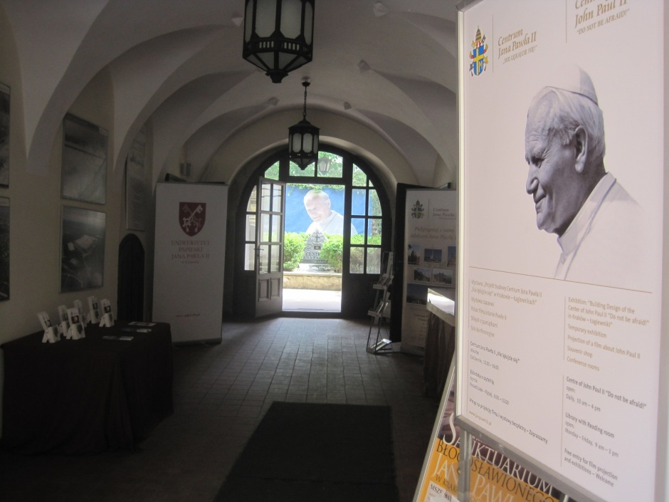 The museum dedicated to Pope John Paul. a beloved local