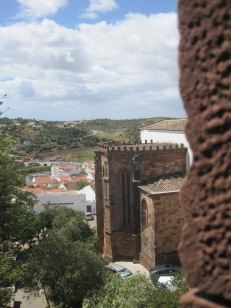 The cathedral, viewed from the castle walls