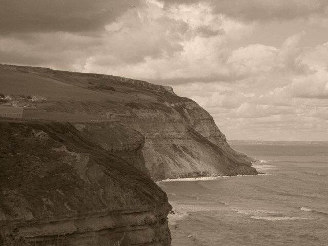 Cliffs like these are common enough in Yorkshire
