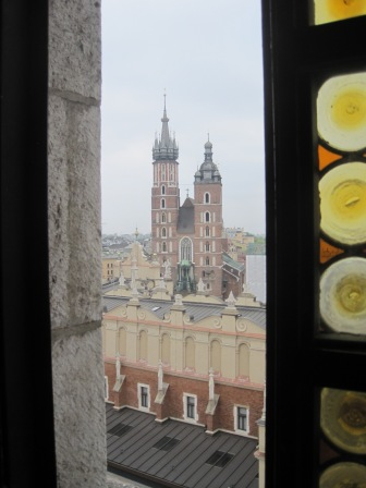 The lovely Mariacki Church, from the bell tower