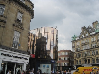 Reflecting windows in the heart of the shopping centre on Grainger St., Newcastle