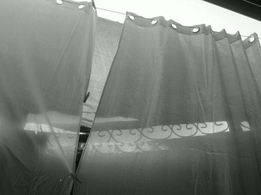 B & W curtain