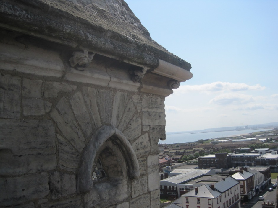 Hartlepool, viewed from Christ Church tower, on a sunny day!