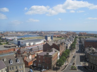 View from Christ Church tower over Hartlepool