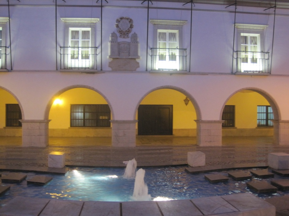 The Camara or Council Offices in Tavira. I love the fountains.
